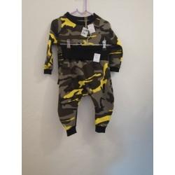 Set Camouflage gelb Gr. 74/80